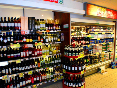 Off licence section